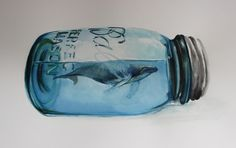 Tiny Whale -- by an artist who recently started working w/ watercolors for the…