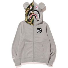 14524bd1abef A BATHING APE SHARK BE R FULL ZIP HOODIE A Bathing Ape