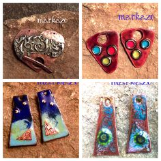 Great enameled charms and silver solder bracelet components can be found in my etsy shop markaZo Charms, Artisan, My Etsy Shop, Handmade Jewelry, Enamel, Bracelets, Earrings, Silver, Bangles