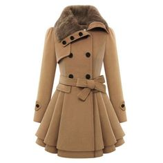 WJ 2016 Autumn/Winter Women Korean Style Slim Warm Coats Wool Double Breasted Long Coat Thickening Abrigos Mujer