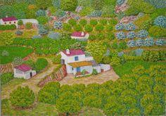 Huerta de Ojén. Óleo sobre lienzo. 2008. 92x65cm  250€