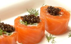 Smoked Salmon Rolls with Caviar... minus the caviar...lol
