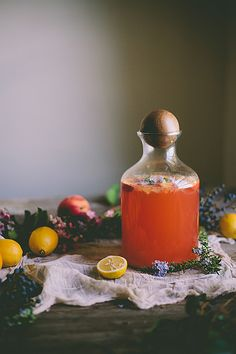 Peach & Rosemary Blossom Lemonade by Eva Kosmas Flores | Adventures in Cooking  Also, toasted hazelnuts and lavender AND rhubarb endive salad