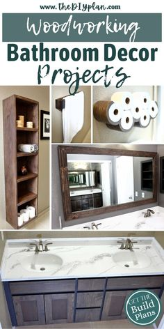 Free plans for Bathroom Decor and Improvements ideas. Visit our website for instruction of how to improve your bathroom areas and get the storage ideas. #diydecor #farmhouse #farmhousebathroom #bathroom #ideas #homeimprovements #woodworking #buildplans