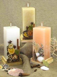 ** Svíčky ovocné ** http://lumierespournosdefunts.blogspot.fr/
