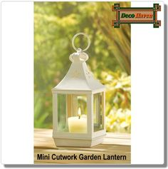 Mini Cutwork Garden Lantern - Tuck this wonderful little lantern into a favorite outdoor nook, cluster several together on a tree, or line an overhang with dancing light. Whatever your imagination desires, it's easy to grace an outdoor evening with a glimmer of shimmering light!  Only $14.43 plus FREE shipping!