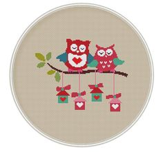 This is cross stitch pattern a very cute owls. The cross stitch pattern can be a wonderful for wall hanging nursery or a gift for loved ones This PDF/…