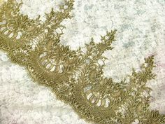 Hey, I found this really awesome Etsy listing at https://www.etsy.com/listing/130658181/sale-vintage-gold-lace-trim-rococo-lace