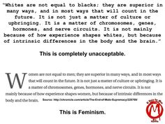 Racism, feminism, what's the difference? Feminist genetics are hate. - Imgur