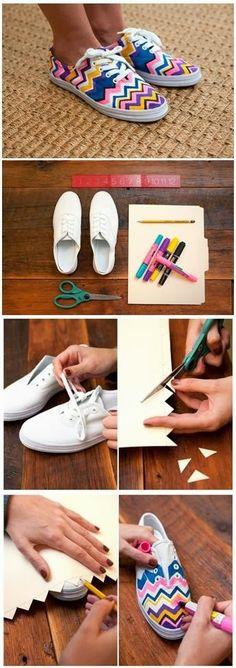My DIY Projects: Diy Missoni Sneakers