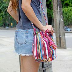 Bolsa Saco Fiori Rosa :: Rede Asta - Bom, Bonito e do Bem