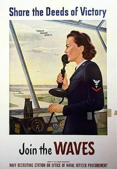 Women who joined the WAVES (Women Accepted for Volunteer Emergency Service) performed several jobs in the aviation community. Learn more about their service: http://www.history.navy.mil/photos/prs-tpic/females/wvw2-av.htm