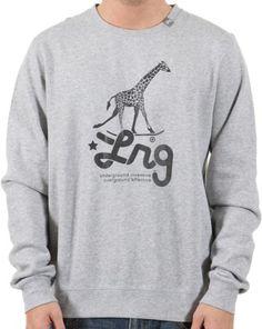 LRG Research Icon Sweatshirt in Ash Heather $49.00