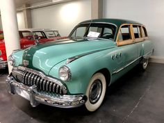 Wow! What an extraordinary car & I adore the color and style. It's a1949 Buick estate station wagon