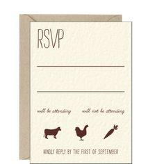 Homestead Wedding Response Card - Terisa & Michael | Paper Source