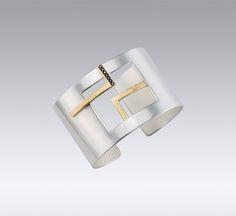 Bracelets | Janis Kerman Design  STERLING SILVER 18KT YELLOW GOLD BLACK DIAMON