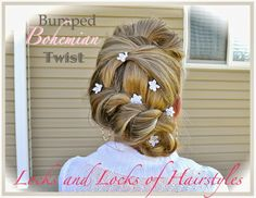 Locks and Locks of Hairstyles: Quick and Easy Video Tutorials: Bohemian Twist with Rope Braid