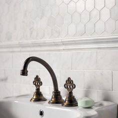 linear marble mosaic bathroom wall   Bathroom Tile : Find Flooring, Backsplash and Wall Tiles Online
