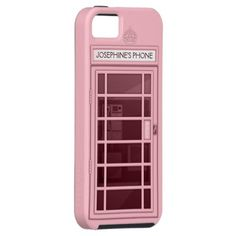 Shop Personalized Name Pink Telephone Box iPhone 5 Case created by DiamondImages. Girly Phone Cases, Iphone Case Covers, Coque Harry Potter, Portable Apple, Coque Iphone 6, Cell Phone Plans, Small Case, Phone Accessories, Justice Accessories