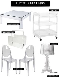 Decorating With Lucite Furniture. Lucite FurnitureAcrylic FurnitureDream  FurnitureClear ...