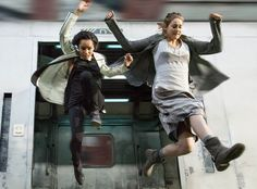 DIVERGENT - I do not endorse train jumping but this scene made me feel a little dauntless :)