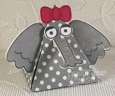 Stampin' Up! Pyramid Pals and Playful Pals Elephant. See more pals on my blog today! Debbie Henderson, Debbie's Designs.