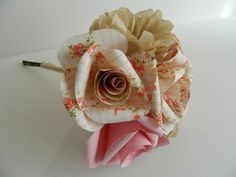 Paper Rose and Carnation Bouquet £45.00