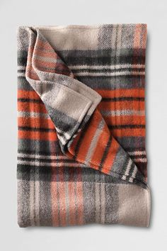 Alpaca Plaid Blanket from Lands' End