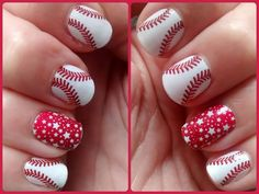 Proven targeted nutritional supplements, amazing nail designs, and unmatched opportunities for a home-based business. Baseball Nail Designs, Baseball Nail Art, Sports Nail Art, Softball Nails, Wow Nails, New Year's Nails, Cute Nails, Hair And Nails, Pretty Nails