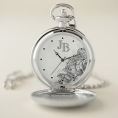 d20ba70c9 Vintage Etched Leaves and Monogram Pocket Watch | pocket watches | watches  for men | gifts