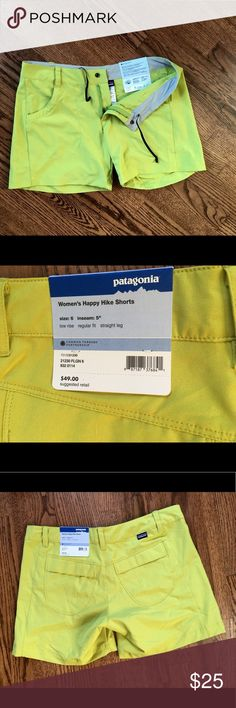 Cute Patagonia shorts - Brand New !! Dapper Patagonia Shorts - Size 6, never worn - still has tags! 68% polyester, 12% spandex. Low rise - Regular fit, straight leg Patagonia Shorts
