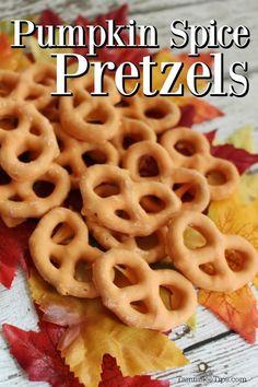 Pumpkin Spice Pretzels Recipe - Tammilee Tips