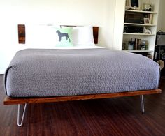 SALE ITEM Reclaimed Wood Platform Bed And by CasanovaHome on Etsy