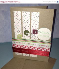 Celebrate the Season Christmas Card Handmade by JemLouProductions, $2.40