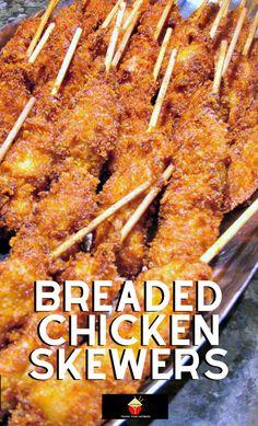 Breaded Chicken Skewers | Lovefoodies