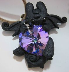 purple heart night fury by CarmendeeDragons on Etsy
