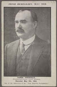 James Connolly, Irish republican and socialist leader. Born in Edinburgh, Scotland, to Irish parents. He was executed by the British in May 1916 for his role in the Easter Rising. Scottish People, Irish People, Family History Book, History Books, Ireland 1916, Easter Rising, Irish Landscape, King And Country, Irish Eyes