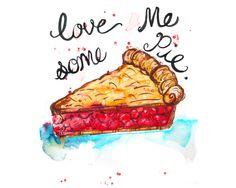 Dean, Supernatural, Love Pie, Cherry Pie, Geek, Fandom, Nerd, Winchesters, Supernatural art, Supernatural print, Supernatural watercolor by DripDryArt on Etsy https://www.etsy.com/listing/286955749/dean-supernatural-love-pie-cherry-pie