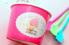Ice Cream Party Cups with OnlineLabels.com