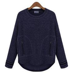 Yoins Yoins Navy Loose Sweatshirt ($23) ❤ liked on Polyvore featuring tops, hoodies, sweatshirts, navy, shirts & tops, navy blue long sleeve shirt, blue sweatshirt, navy sweatshirt, boyfriend sweatshirt and longsleeve shirt
