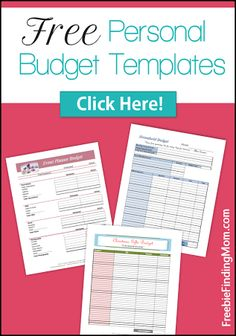 Free Personal Budget Templates