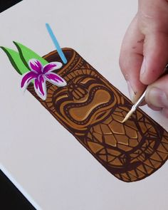 Painting a Tiki Drink with Gouache by Philip Boelter Painting a Tiki Drink with Gouache by Philip Boelter Boelter Design Co PhilipBoelter Art Illustration Check out nbsp hellip videos gezeichnet Gouache Painting, Painting & Drawing, Art Sketches, Art Drawings, Art Chinois, Tiki Art, Paint Supplies, Wow Art, Art Plastique