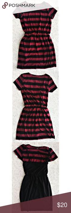 the best attitude a84c4 577c0 City Triangles Striped Dress sz M City Triangles dress Burgundy or maroon  and black stripes Black