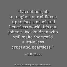 children are our future. #whatreallymatters
