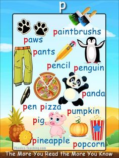 'p' words phonics poster - Free Download!