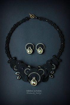 Handmade soutache set necklace and earrings от Mildossutazas