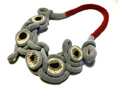 Crochet Necklace by Lidia Puica.  2014