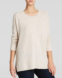 C by Bloomingdale's Exposed Seam Cashmere Sweater | Bloomingdale's
