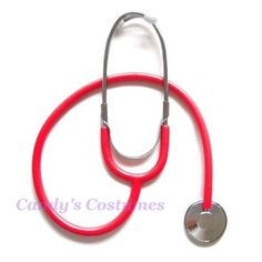 Red-STETHOSCOPE-Working-PROP-Costume-NURSE-Doctor-PLAY-Hospital-EDUCATION-Toy