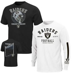 #NFL #RAIDERS 3-in-1 Tee Shirt Combo. Wear both shirts together to create a stylish layered look or wear each one separately. Size:MED. Only $19.99. FREE SHIPPING